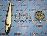 1955 Buick Roadmaster Gold Hood Ornament And Hood Letters Kit