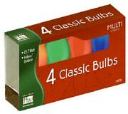 125 Holiday Wonder 1094a-88 4 Pack C9 Multi 7w Christmas Light Replacement Bulbs
