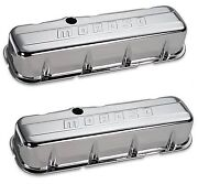 Moroso Stamped Steel Tall Chrome Valve Covers Big Block Chevy 68113