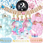 Gender Reveal Party Supplies Baby Shower Boy Or Girl Decoration Kit -127 Pieces