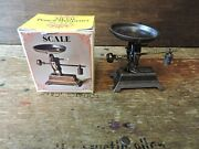 Vintage Old Fashioned Scale Diecast Metal Pencil Sharpener With Box Hong Kong