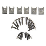 1979-1993 Ford Mustang Front Inner Fender Well Screws And Nuts 22pc Hardware Kit