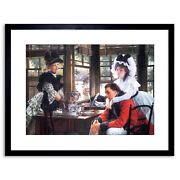 Painting Tissot Bad News Separation Old Master Framed Picture Art Print 9x7 Inch