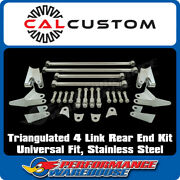 Universal Fit Triangulated 4 Link/4 Bar Rear End Kit, Stainless Steel