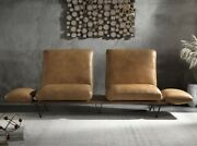 Acme Furniture Narech Top Grain Leather Sofa With Swivel Seats