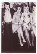 Photo Vintage Johnny Hallyday France Gall Georgette Lemaire Annie Philippe 1967