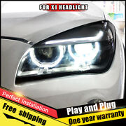 For Bmw X1 2012-2015 Headlights Assembly Bi-xenon Lens Double Beam Hid Kit