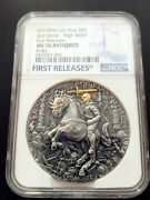 Ms70 Niue Red Horse Andndash Four Horsemen 2019 2 Oz Pure Silver Coin Mint Of Poland