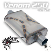 Black Widow Venom 250 Exhaust Muffler- Center / Center - 2.5 In And Outs