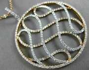 Large 1.59ct Diamond 18kt White And Rose Gold Circular Multi Wave Infinity Pendant