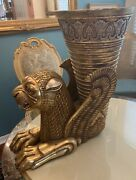 Persian Antique Brass With Epic Scenes Vase 19th Cen. Hand Crafted. Engraving