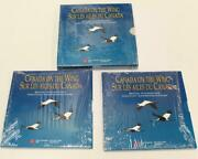 1995 Canada On The Wing Set Of 4 Silver 50 Cent Coins In Package