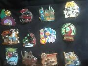 Complete Disney Piece Of History Pin Sets Pirate, Haunted Mansion Figment