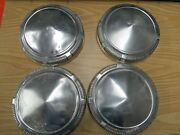 Vintage Plymouth 9 Dog Dish Hub Caps, Set Of Four 4, Good Used Condition