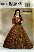 Butterick Sewing Pattern 4540 Misses Victorian Costume Top And Skirt Size 18-22