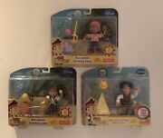 Disney Junior Jake And The Neverland Pirates Figure Sets With Accessories X3