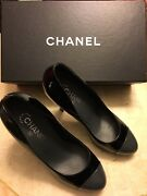 High Heel Patent Black And Gray Shoes/pumps In Size 39 0r 9 Store Display