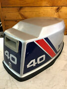 Nissan 40 Hp 2 Cyl 2 Stroke Outboard Hood Top Cowl Cowling Cover Freshwater Mn