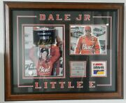 2002 Dale Earnhardt Jr Signed Little E Picture With Sheet Metal Off Race Car