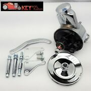 Sbc Chevy Chrome Saginaw Power Steering Pump Bracket And Pulley Kit 350 400