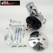 Sbc Chevy Polished Aluminum Saginaw Power Steering Pump Bracket And Pulley Kit 350