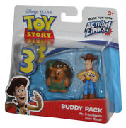Disney Toy Story 3 Action Links Mr. Pricklepants And Hero Woody Buddy Figure 2-pac
