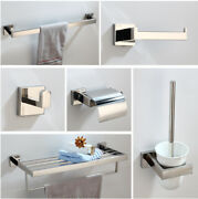 Wall Mount Bathroom Chrome Soap Dish/toilet Paper Holder/towel Bar Accessories