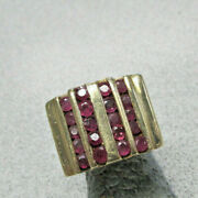 Unique Menand039s Or Ladies Channel Set Ruby Ring 14k Gold Size 9 To 10 Make Offer