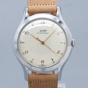 Free Shipping Pre-owned Tissot Big Case Antique Watch Made 1940 Good Condition