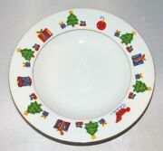 Save The Children Christmas Tree Round 9.25 Vegetable Pasta Bowl Brian Age 10