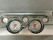 1967 1968 Mustang Dash Panels,stainless Bubble Design By Desert Classic Mustangs