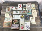 21 Vintage Postcards From 1931-1921, Easter New Years Christmas Holidays
