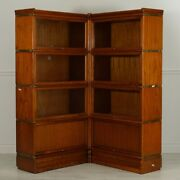Beautiful Barrister Stacking Bookcase Corner Unit Showcase 2 Units Wide