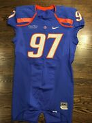 Game Worn Used Boise State Broncos Football Jersey Size 44 97