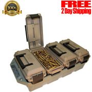 Large Military Ammo Crate Utility Box Stackable Multi-caliber 4 Can Bulk Storage