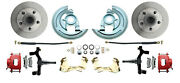 64-72 A Body Chevelle Gto Cutlass 2 Inch Drop Front Disc Brake Kit Red Calipers