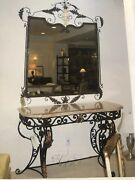 Louis Xv Marble Top William Switzer Console Table And Mirror