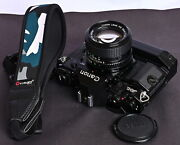 Canon A-1 35mm Film Slr Camera C/w New Fd 50mm F/1.4 Lens And Power Winder A2 Kit