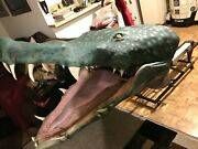 Halloween Prop Animated Alligator Head Snappy. Craziest Item Ive Ever Listed