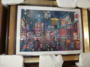 Alexander Chen 3d Times Square Panorama -andnbsp 20x29 -andnbsp Brand New Condition