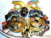 1967 1968 1969 Ford Mustang Disc Brakes To Fit 14 Wheels Cross Drill Rotors