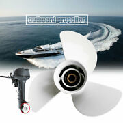 15 Spline Tooth White Marine Outboard Propeller For Yahama Engines 50-130hp F90