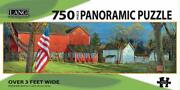 Lang Panoramic 750pc Linen Puzzle American Farm By Sam Timm
