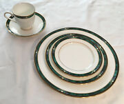 Lenox Bone China Kelly Pattern From The Debut Collection 5 Piece Dinner, 12 Sets