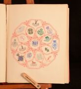 C1890 Crest And Monogram Album W S Lincoln Stamps Collectors Booklet Third Ed