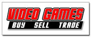 12 Video Games Decal Sticker Buy Sell Trade Game Rental Sale Computer Pc