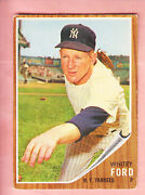1962 Topps Whitey Ford Front With  Billy Williams Back 2 Hofs