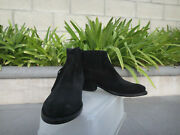 Golden Goose Deluxe Brand, Crosby Black Suede Fringe Boots, Italy Size 37