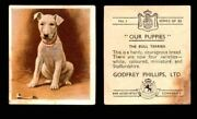 1936 Godfrey Phillips Our Puppies Tobacco You Pick Singles Trading Cards 1-30