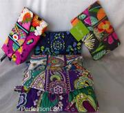 Nwt Vera Bradley Strap Wallet, Crossbody, In Choice Of Pattern With Free Ship